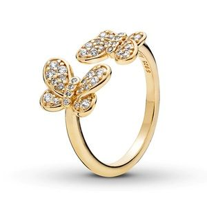 Pandora Shine Butterfly 18k gold-plated Ring